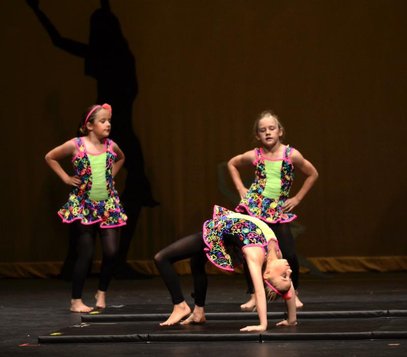 Acrobatics students demonstrate thier progress in Wilmington NC performances.
