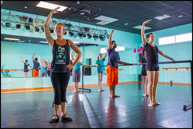 Adult Ballet & Dance students enjoy a fun hour of fitness at The Dance Element