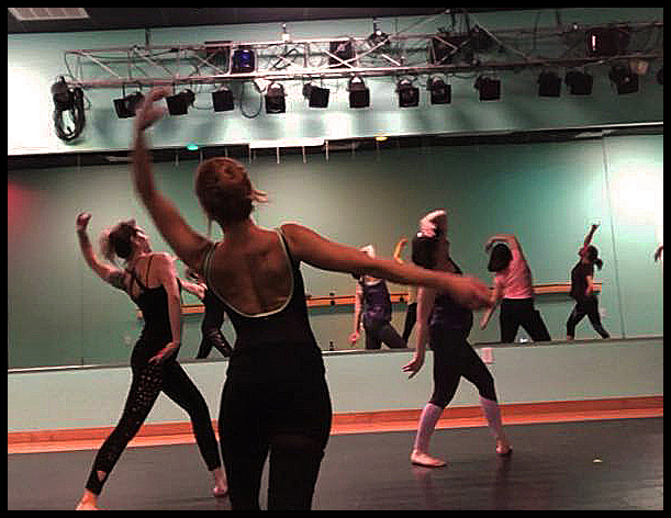 Adult students enjoy participating in weekly ballet, hip hop, & jazz classes.