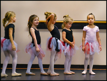 6, 7, & 8 year-old ballet students enjoy learning to dance at The Dance Element