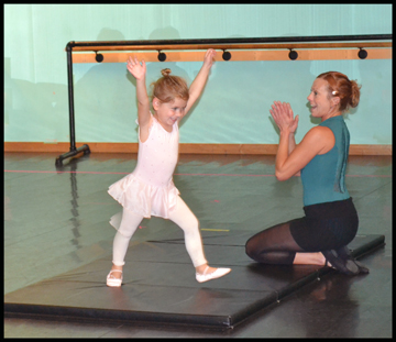 3, 4, & 5 year olds love learning ballet & tumbling at The Dance Element.