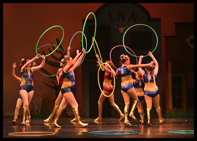 Hoop Dance students enjoy the opportunity to perform and show off their skills