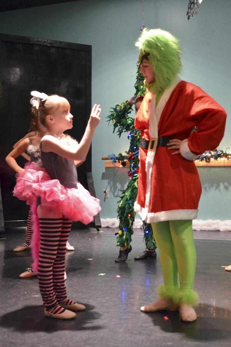 Christmas holiday dance performance in Wilmington NC at The Dance Element studio