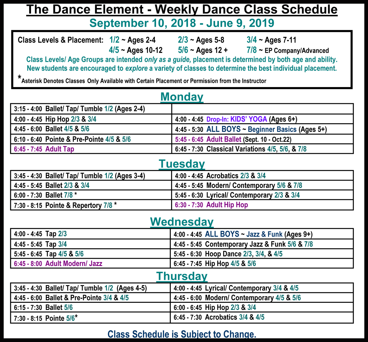 Ballet, Hip Hop, & Dance Classes for Children & Adults in Wilmington NC.