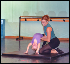 Preschool Children love learning Acrobatics & dance at The Dance Element studio.