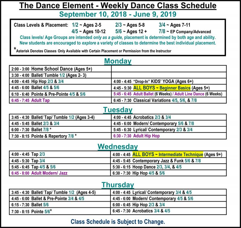 All Boys Hip Hop & Dance Classes at The Dance Element studio in Wilmington NC