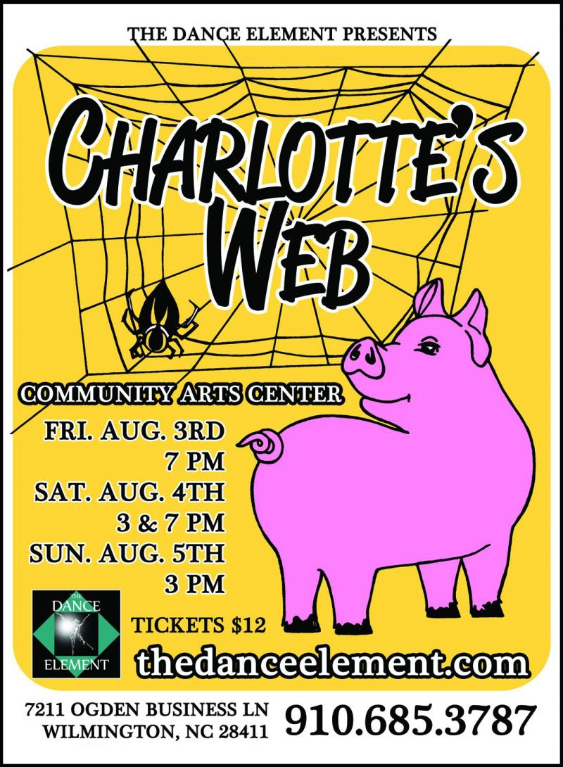 Press for The Dance Element studio's premiere of Charlotte's Web, Wilmington NC