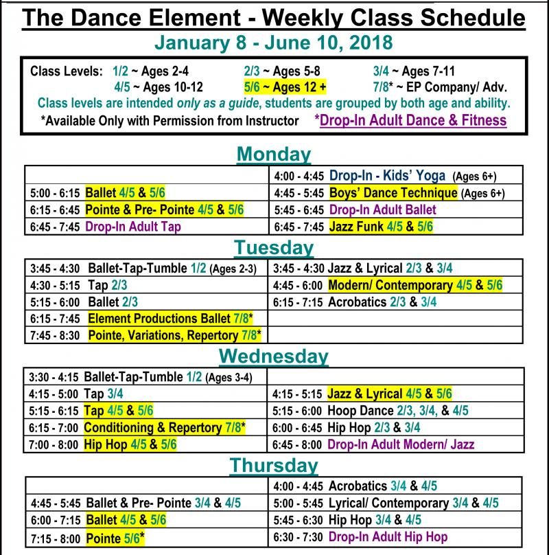 Dance Classes for Teens in Wilmington NC