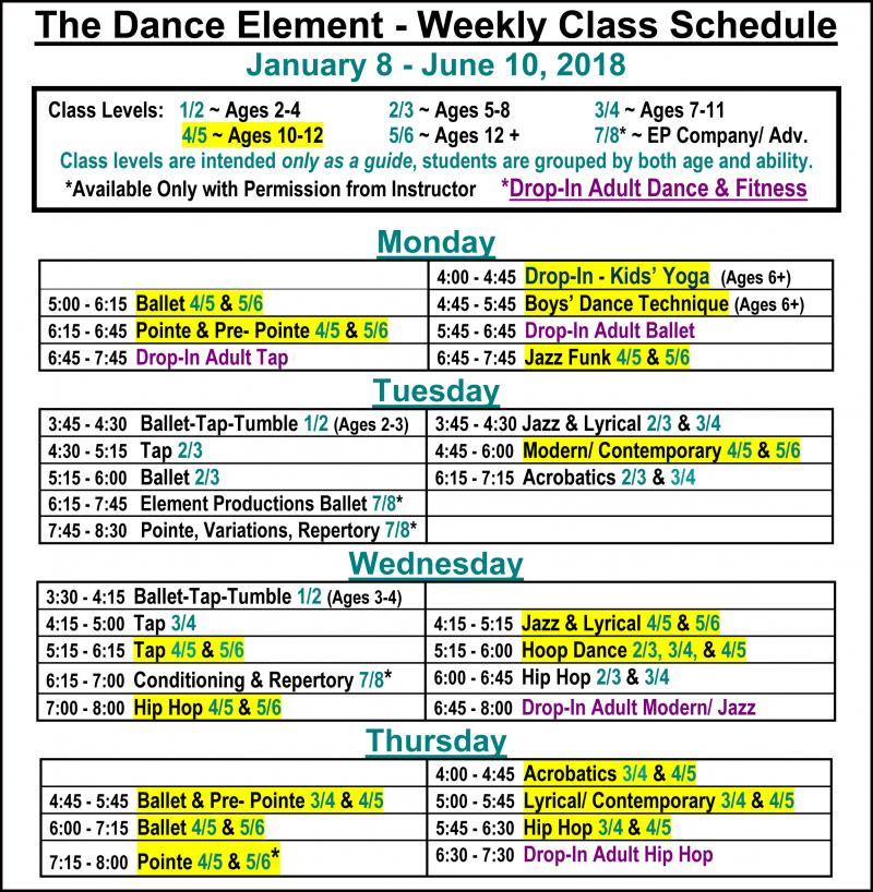 Ballet, Hip Hop, & Dance Classes for girls & boys age 12 & up in Wilmington NC