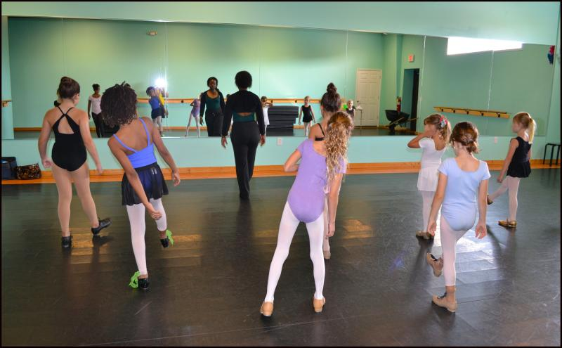 Dance students explore a variety of dance styles with professional teachers