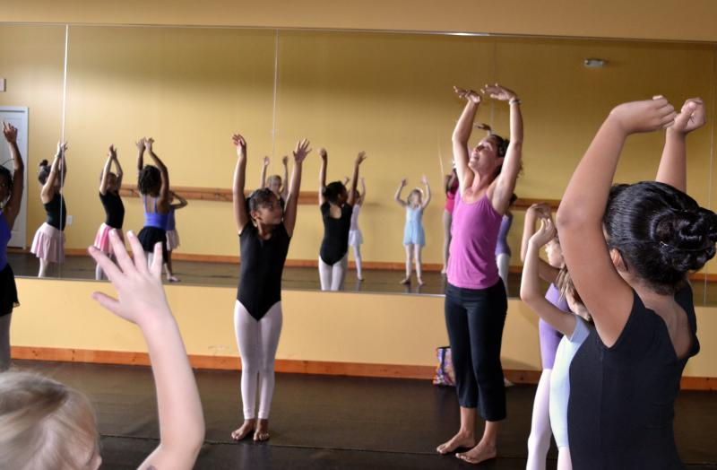 Kids enjoy participating in yoga classes at The Dance Element in Wilmington N