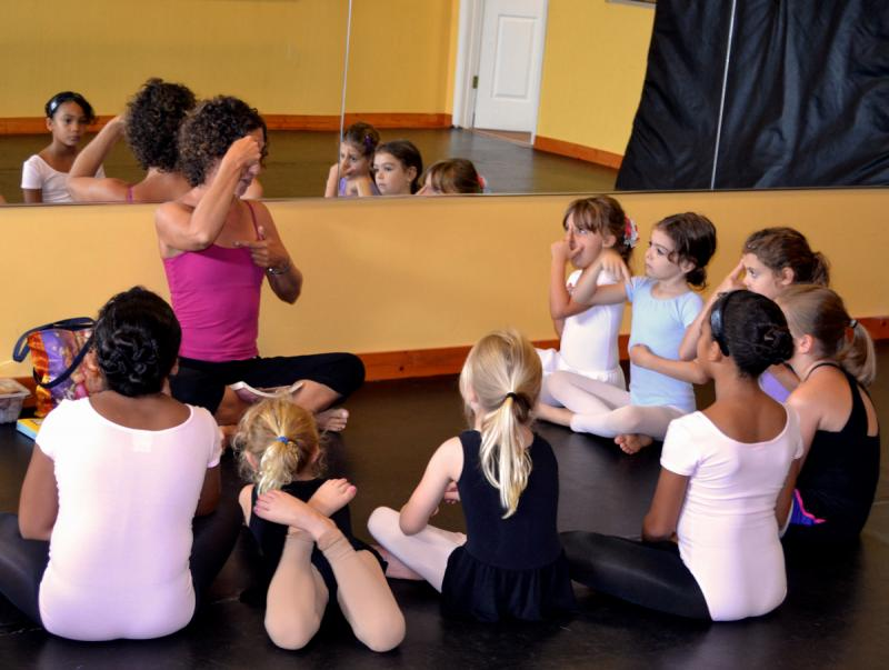 Enjoy weekly Yoga classes for kids, teens, & Adults at The Dance Element studio