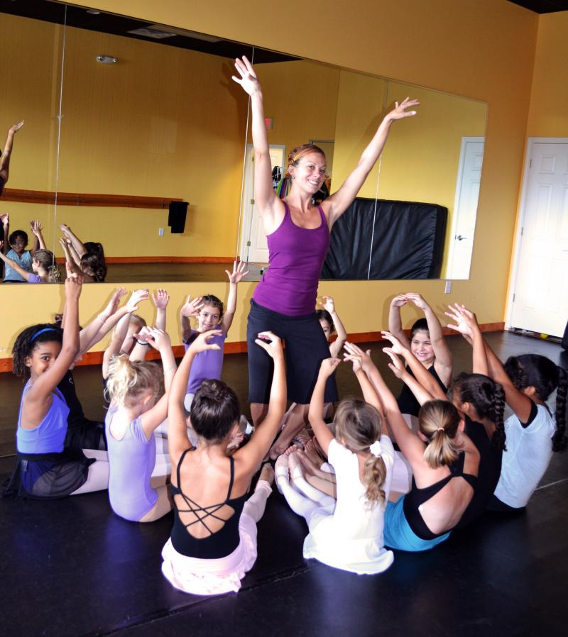 Ashley Barnes teaches Ballet for kids and adults at The Dance Element studio.