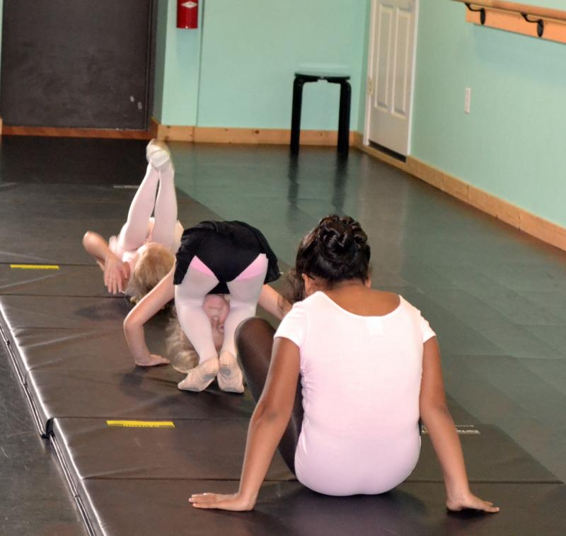 Tumbling classes for preschoolers are offered at The Dance Element in Wilmington