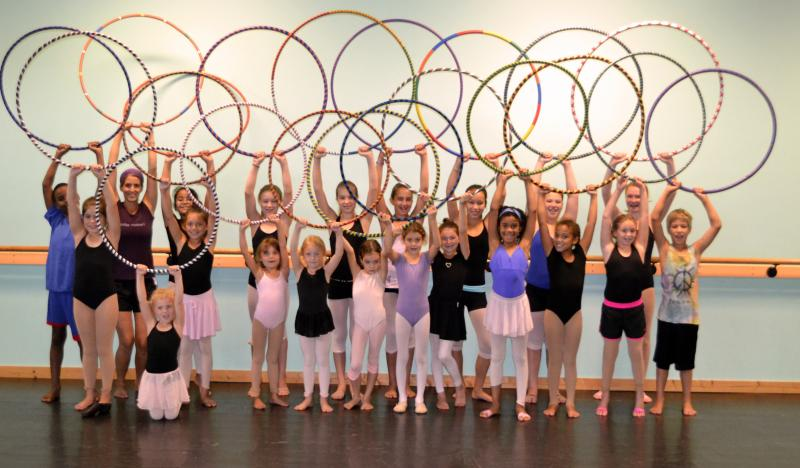 Sarah Hill teaches Hoop Dance classes for kids and adults at The Dance Element.