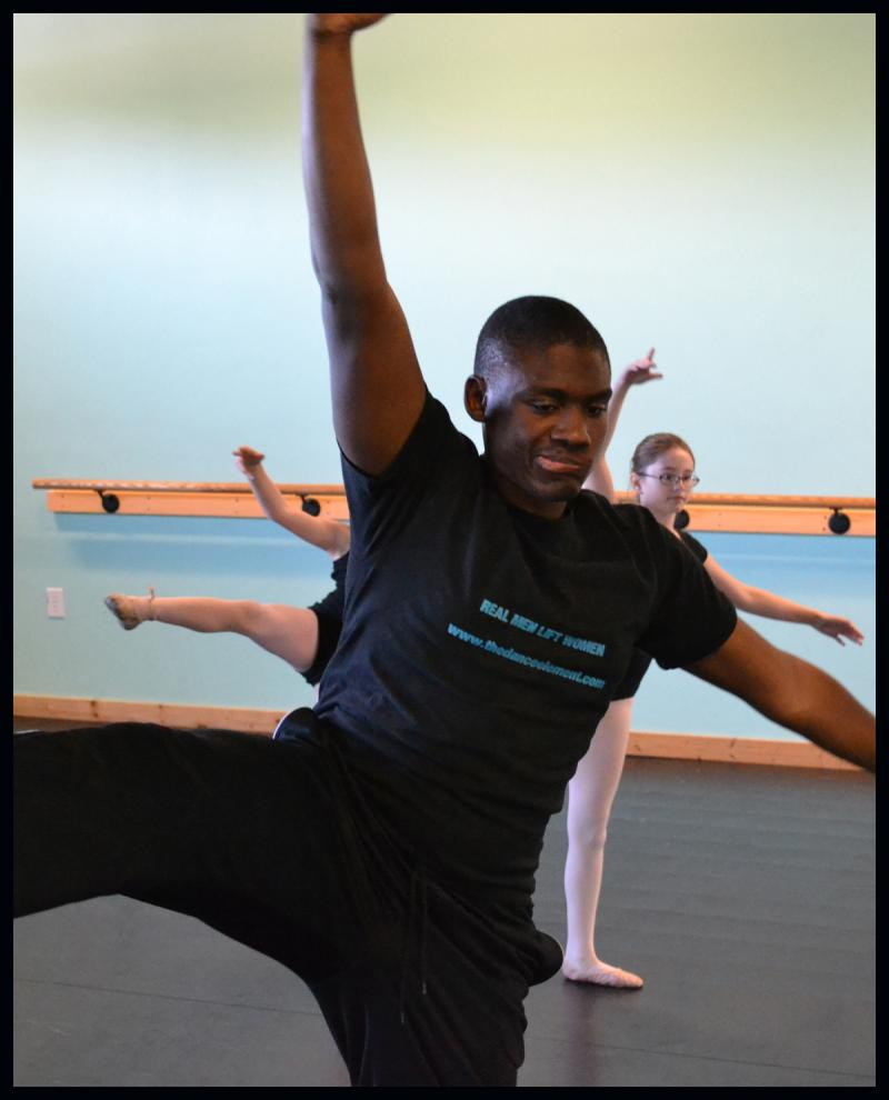 Manny Lloyd began his ballet, jazz, & modern dance training at The Dance Element