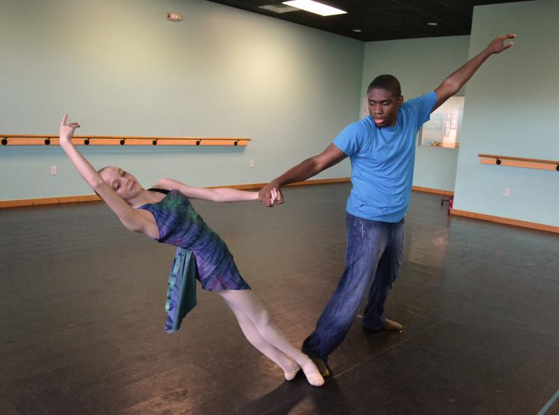 Dance Element Company dancers maintain a high level of Ballet training.