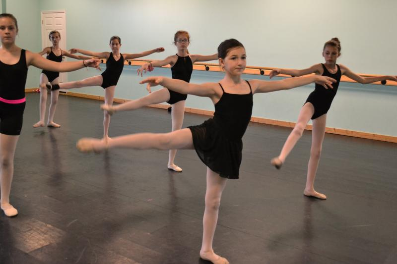 Ballet students at our studio in Wilmington NC dress in appropriate attire.