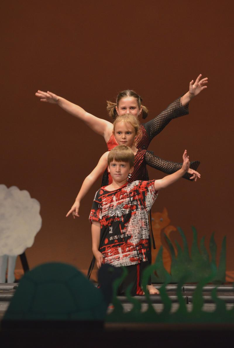 Lindsay Davis teaches Acrobatics for kids at The Dance Element in Wilmington NC.