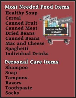 Most needed non-perishable food and personal care items to donate in Wilmington