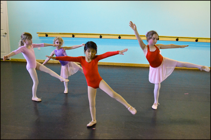 Kids & Teens enjoy learning contemporary dance at The Dance Element studio.