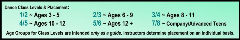 Dance Class Levels & Class Placement for Recreational Dance Classes