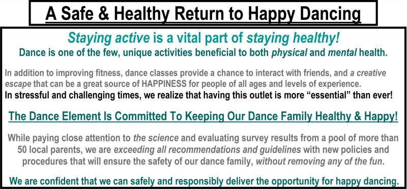 Health and safety precautions at Wilmington NC Dance Studio