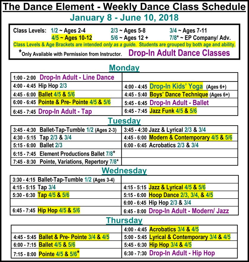 Ballet, Hip Hop, & Contemporary Dance for Age 10, 11, 12 in Wilmington NC.