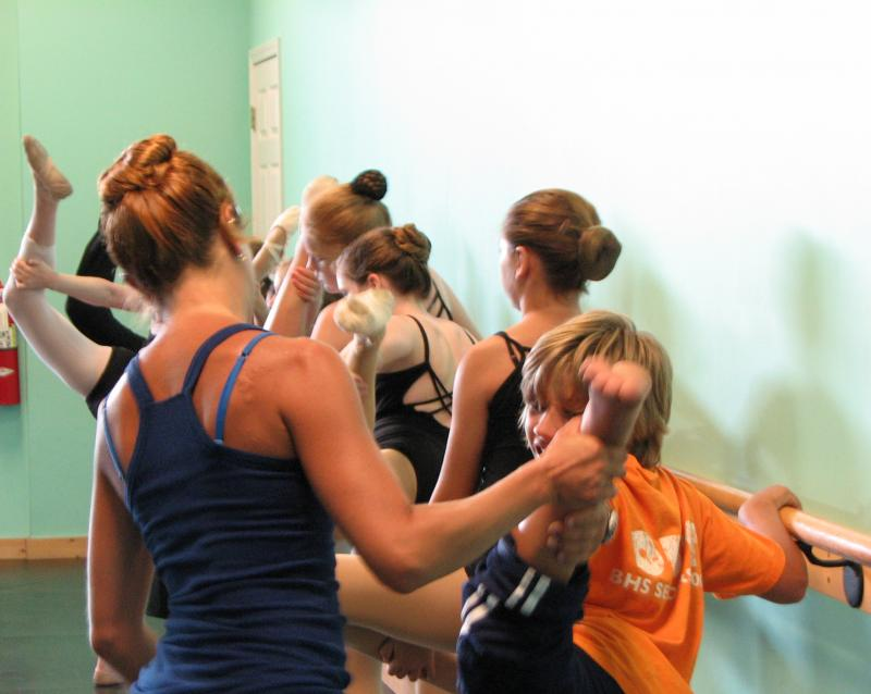 Home School Students participating in a dance program at our dance studio.