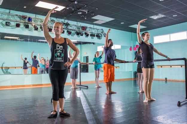Adult dance students enjoy weekly classes at The Dance Element in Wilmington NC