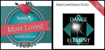 The Dance Element was voted 2021's Most Loved dance studio in Wilmington NC