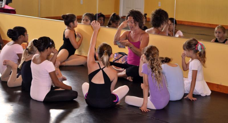 yoga classes for children are in wilmington nc at The Dance Element studio