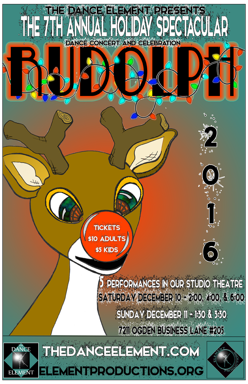 Upcoming dance performance of Rudolph in Wilmington NC at The Dance Element