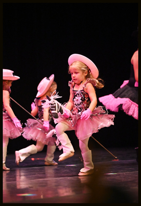 Preschool ballet students enjoy performing in spectacular annual showcases.